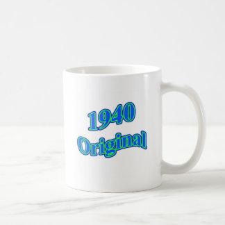 Verde azul original 1940 taza clásica