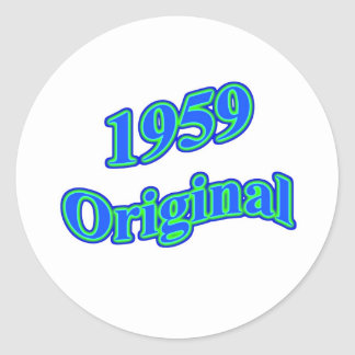 Verde azul original 1959 pegatina redonda