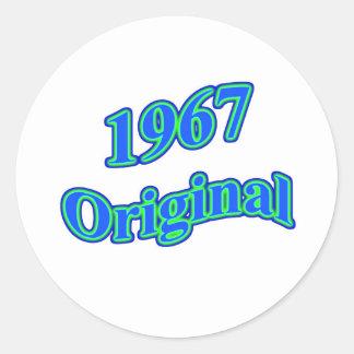 Verde azul original 1967 etiquetas redondas