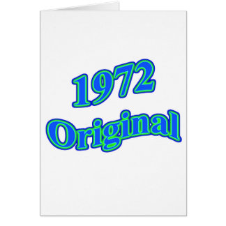Verde azul original 1972 tarjetas
