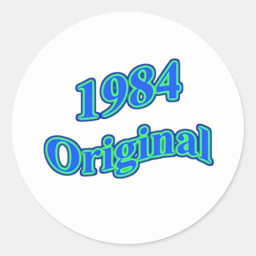 Verde azul original 1984 etiquetas