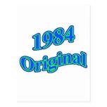 Verde azul original 1984 postales