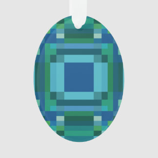 Verde azul Pixelated geométrico