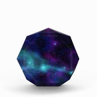 Verde azul púrpura de las estrellas cósmicas estel