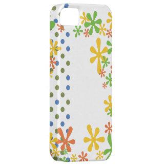 Verde azul retro del arte pop y flores amarillas d iPhone 5 protectores