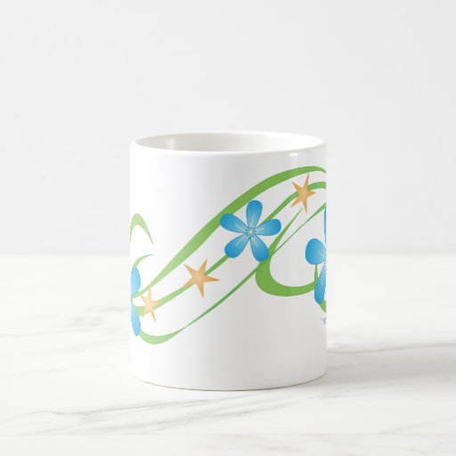 Verde azul tropical tazas de café