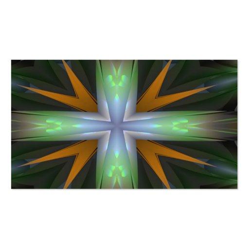 Verde, azul y diseño anaranjado tarjetas de visita