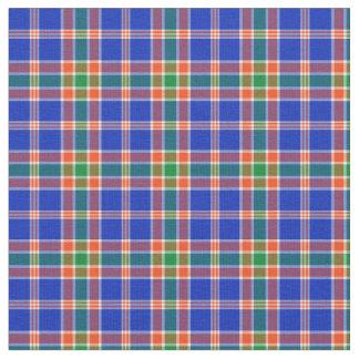 Verde, azul y tela escocesa deportiva anaranjada telas