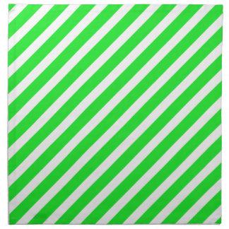 Verde básico de la raya 1 servilleta imprimida