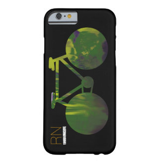 verde-bici con iniciales funda para iPhone 6 barely there