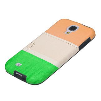Verde blanco anaranjado funda para galaxy s4