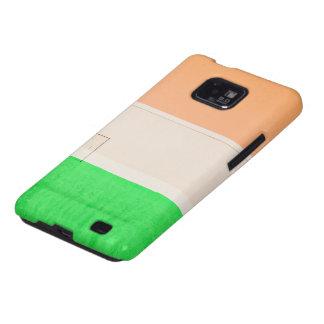 Verde blanco anaranjado galaxy SII carcasa