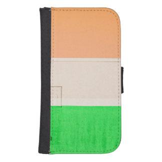 Verde blanco anaranjado fundas tipo cartera para galaxy s4