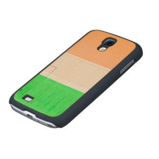 Verde blanco anaranjado funda de galaxy s4 slim arce