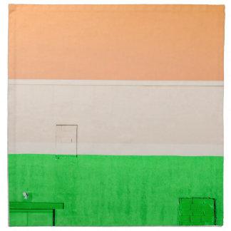 Verde blanco anaranjado servilletas imprimidas