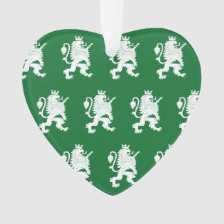Verde blanco coronado del león