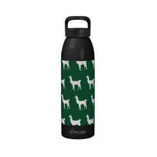 Verde blanco de la llama botella de agua reutilizable
