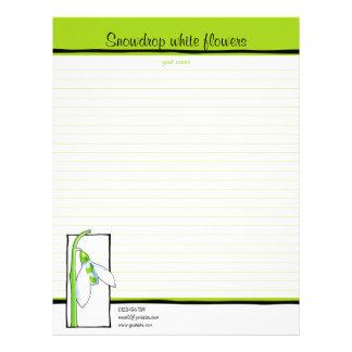 Verde blanco de Snowdrop para hacer la lista Membrete A Diseño