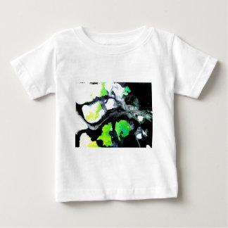 Verde blanco del negro abstracto audaz de la playeras