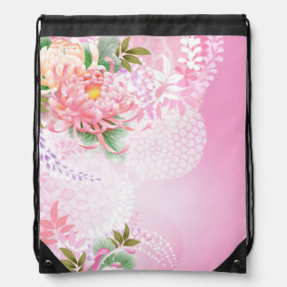 Verde blanco del rosa floral de las momias de mochilas