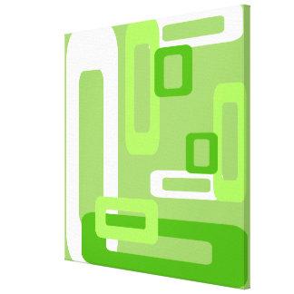 Verde/blanco estilizados de los rectángulos impresión en lona