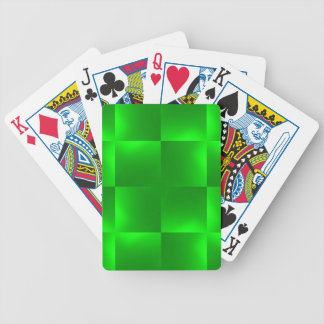 verde brillante de los controles baraja de cartas