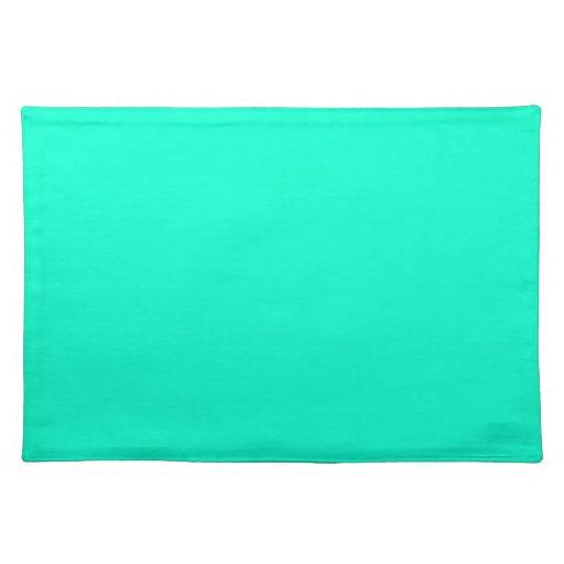 Verde brillante Placemats de la turquesa Manteles