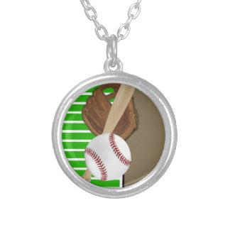 Verde/Brown del béisbol Colgante Redondo