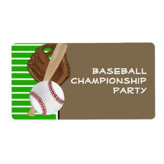 Verde Brown del béisbol Etiqueta De Envío