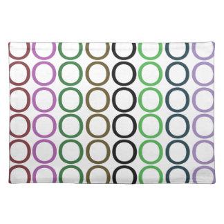 Verde, Brown, y chapoteo púrpura de los o Mantel Individual
