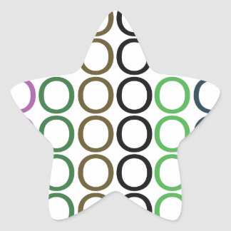 Verde, Brown, y chapoteo púrpura de los o Pegatina En Forma De Estrella