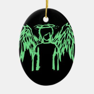 Verde caido del ángel adorno de reyes