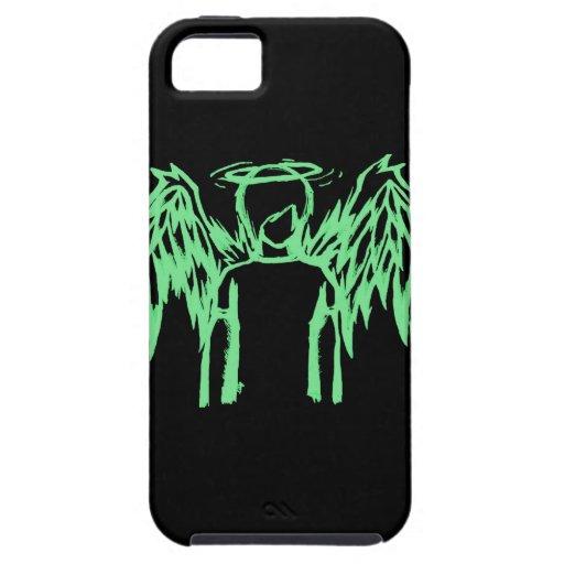 Verde caido del ángel iPhone 5 carcasa