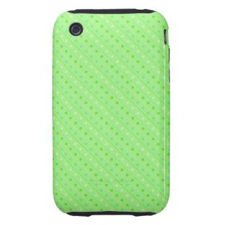verde caliente del lunar del caso del iPhone Tough iPhone 3 Coberturas
