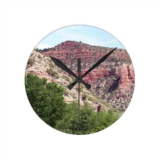 Verde Canyon, Arizona, Southwest, USA Round Wallclocks