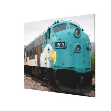 franwestphotography Verde Canyon Train Locomotive, Arizona, USA Canvas Print