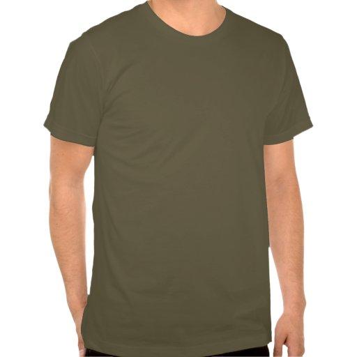 Verde caqui básico Brown de la camiseta de America