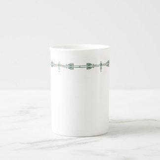 Verde caqui de Dard Taza De Porcelana