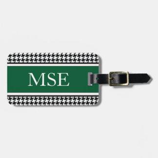 Verde caqui de encargo del modelo el | del monogra etiqueta para maleta