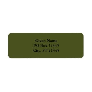 Verde caqui etiqueta de remitente