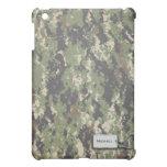 Verde caqui y camuflaje de los militares de Brown  iPad Mini Funda