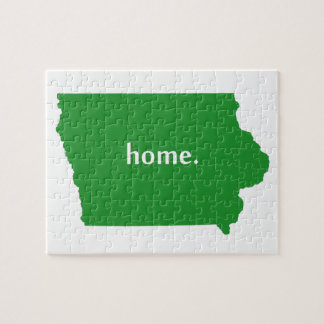 Verde casero de Iowa Rompecabezas