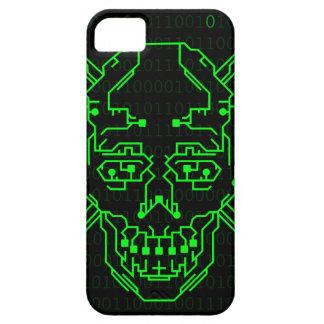 Verde; Caso binario del iPhone 5 del cráneo Funda Para iPhone SE/5/5s