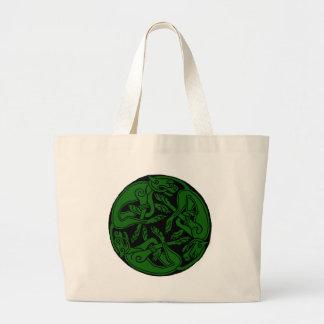 Verde céltico de chien del rond bolsas