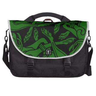Verde céltico de chien del rond bolsas de portátil
