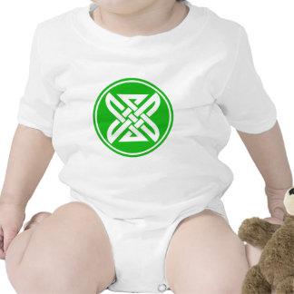 Verde céltico del nudo 1 traje de bebé