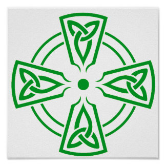 Verde céltico del nudo 5 póster