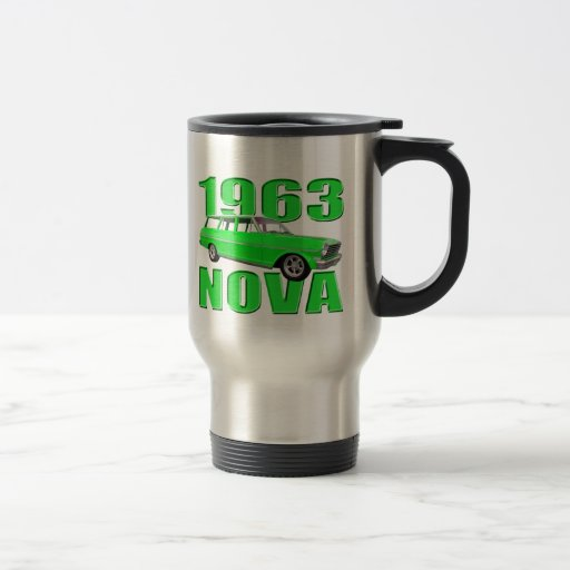 verde chevy del carro de la Nova 1963 II Taza De Viaje