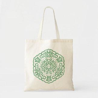 Verde chino del medallón bolsas
