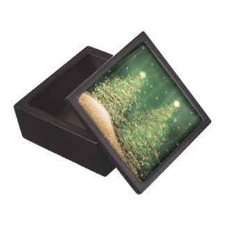 Verde chispeante elegante de los árboles de cajas de recuerdo de calidad